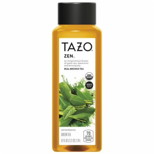 Tazo Iced Tea Zen Green Tea Bottle Perspective: front