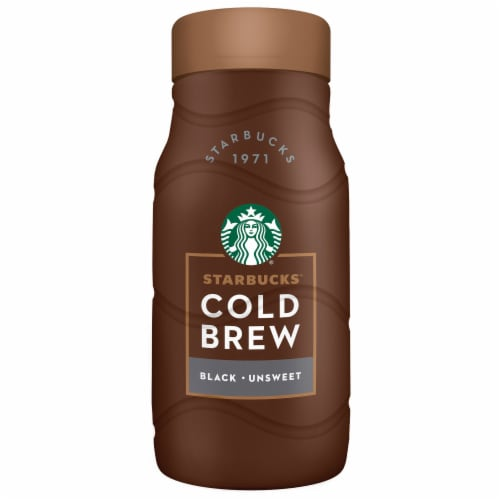 Starbucks Cold Brew Premium Black Unsweetened Coffee Drink Perspective: front