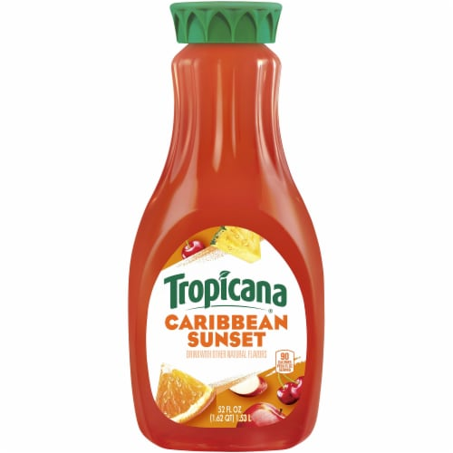 Tropicana Caribbean Sunset Drink Perspective: front