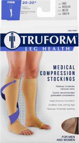 Truform Leg Health Firm Below Knee Stockings Perspective: front