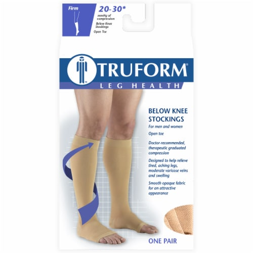 Truform Leg Health Firm Below Knee Stockings Perspective: front