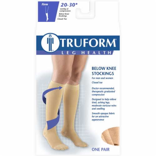 Truform Leg Health Below Knee Stockings - Beige Perspective: front