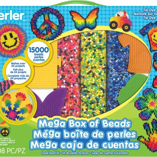 Perler 80-54180 Tie Dye - Mega Perler Kit Perspective: front