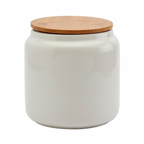 Tabletops Unlimited Medium Matte Cylinder Canister - White Perspective: front