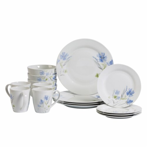 Tabletops Unlimited Round Dinnerware Set - Wildflower Perspective: front