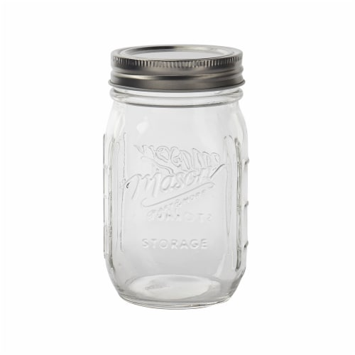 Mason Jar with Lid - Clear Perspective: front