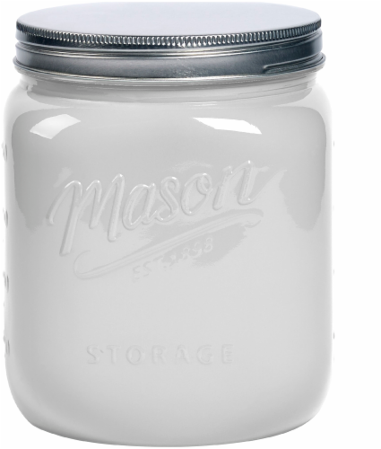 Mason Craft & More Glass Jar - White Perspective: front