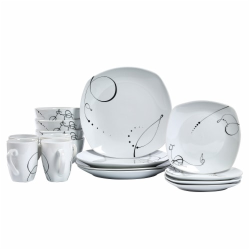 Tabletops Unlimited Square Dinnerware Set - Pescara Perspective: front