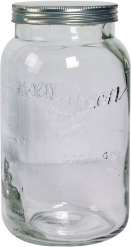 Mason Craft & More Glass Canister - Clear Perspective: front