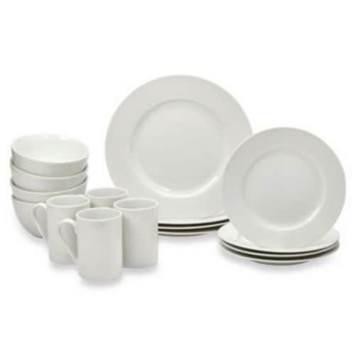 Tabletops Unlimited Round Rim Dinnerware Set - Soleil Perspective: front