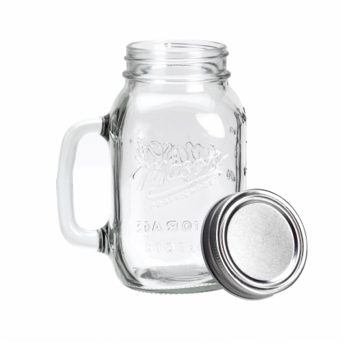 Mason Craft & More Mason Jar with Metal Lid - Clear Perspective: front