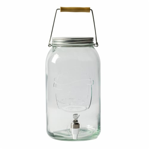 Mason Craft and More Glass Drink Dispenser - Clear Perspective: front