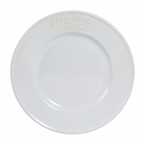 Mason Craft & More Ceramic Salad Plate - White Perspective: front