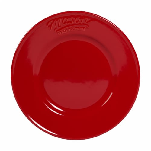 Mason Craft & More Round Ceramic Salad Plate - Red Perspective: front