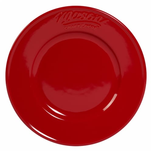 Mason Craft & More Round Ceramic Dinner Plate - Red Perspective: front