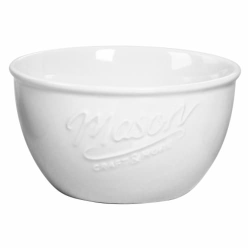 Mason Craft & More Ceramic Cereal Bowl - White Perspective: front