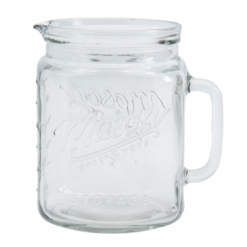Mason Craft & More Glass Water Pitcher Perspective: front