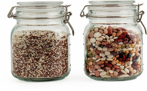 Mason Craft & More Glass Pantry Jar - 2 pk - Transparent Perspective: front