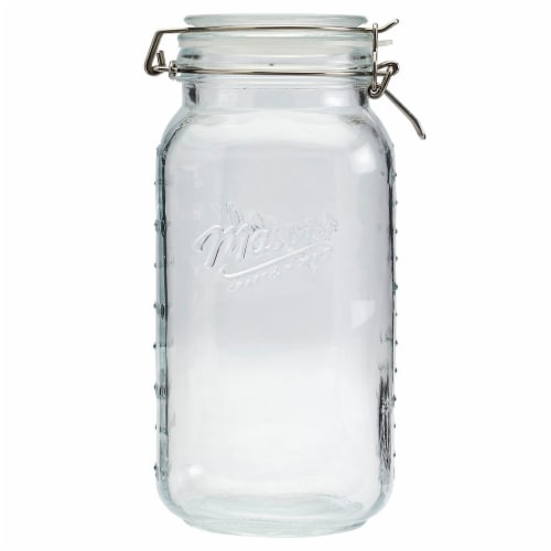 Mason Craft & More Glass Pantry Jar - Clear Perspective: front