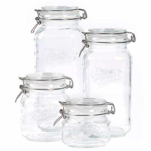 Mason Craft & More Glass Pantry Jar Set - Clear Perspective: front
