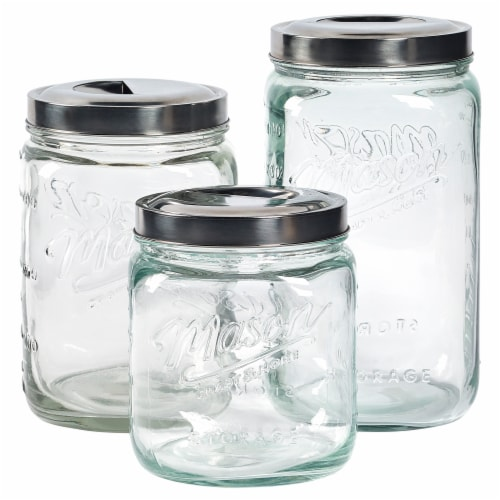 Mason Craft & More Canister Set - Transparent Perspective: front