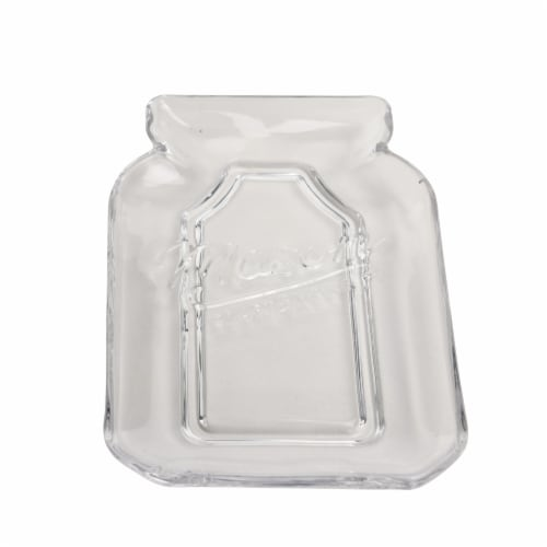 Mason Craft & More Glass Spoon Rest - Clear Perspective: front