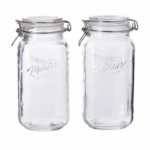 Tabletops Unlimited Clear Glass Preservative Jar with Lid Perspective: front