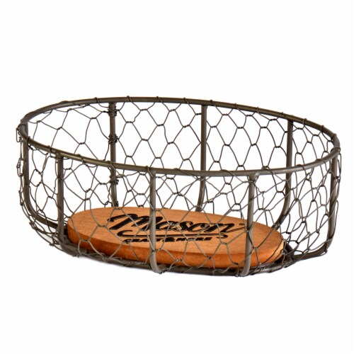 Mason Craft & More Large Chicken Wire Basket - Brown Perspective: front