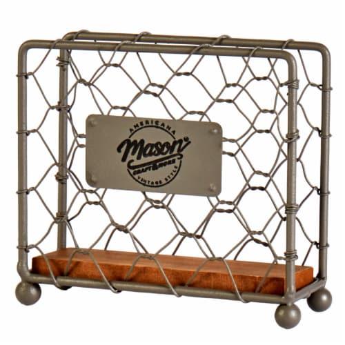 Mason Craft & More Chicken Wire Napkin Holder - Brown Perspective: front
