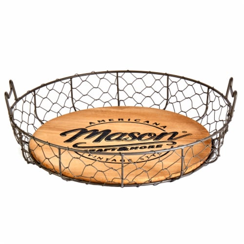 Mason Craft & More Wire Bread Basket - Brown Perspective: front