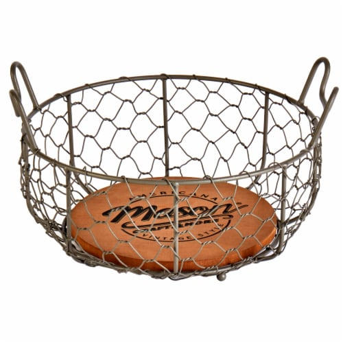 Mason Craft & More Small Chicken Wire Basket - Brown Perspective: front