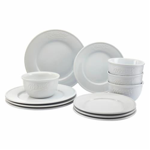 Mason Ceramic Dinnerware Set - White Perspective: front