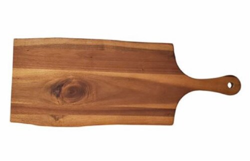 Tabletops Unlimited Live Edge Acacia Wood Cheese Board Perspective: front
