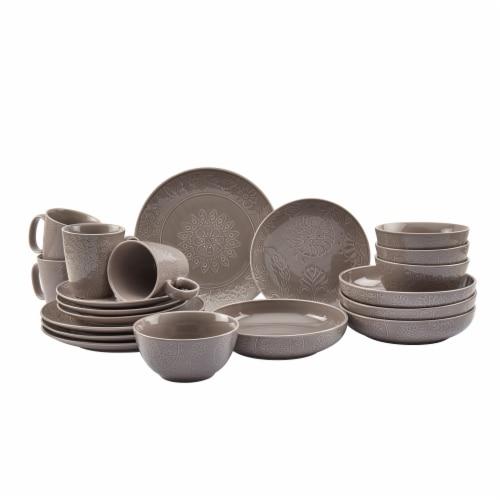 Tabletops Gallery Sophia Dinnerware Set - Gray Perspective: front