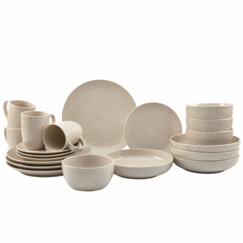 Tabletops Gallery Dinnerware Set - Boxwood Cream Perspective: front