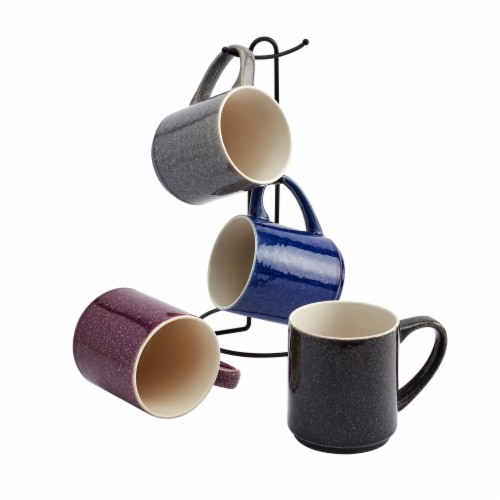 Metal Mug Tree Rack with Mugs Perspective: front