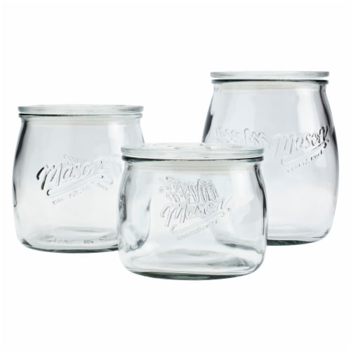 Tabletops Unlimited Belly Shape Mason Canisters Perspective: front