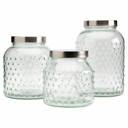 Tabletops Unlimited Mason Hobnail Canister Set Perspective: front