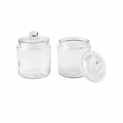 Tabletops Unlimited Glass Heritage Jars - 2 Pack Perspective: front