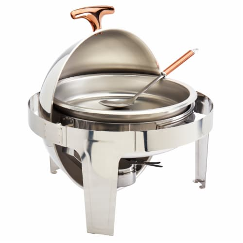 Tabletops Unlimited Roll up Chafing Dish - Stainless Steel Perspective: front