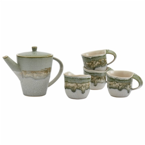 Tabletops Unlimited Tea Set - Jade Perspective: front