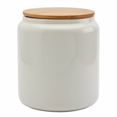 Tabletops Unlimited Large Matte Cylinder Canister - White Perspective: front