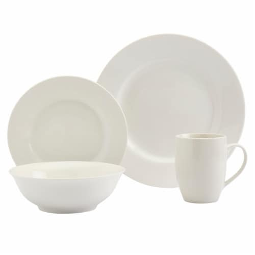 Tabletops Unlimtied DInnerware Set - White Perspective: front