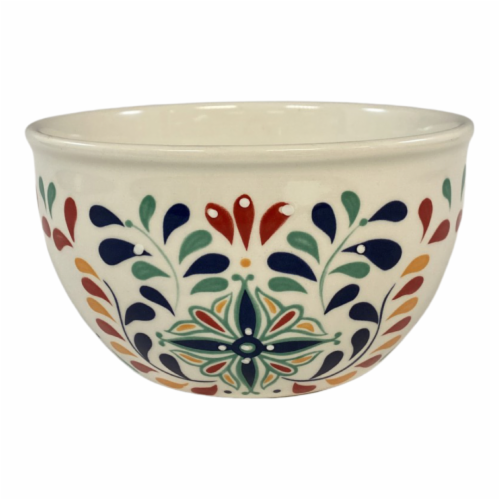 Tabletops Unlimited Mason Talavera Cereal Bowl Perspective: front