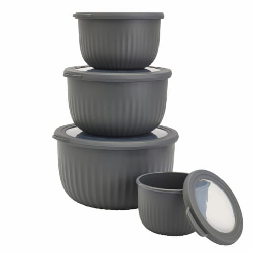 Tabletops Unlimted Deep Nested Bowls - Gray Perspective: front