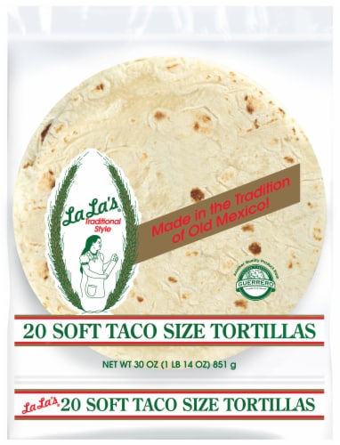 Guerrero La La's Traditional Style Soft Taco Size Tortillas Perspective: front