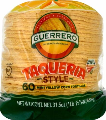 Guerrero Taqueria Style Mini Yellow Corn Tortillas Perspective: front