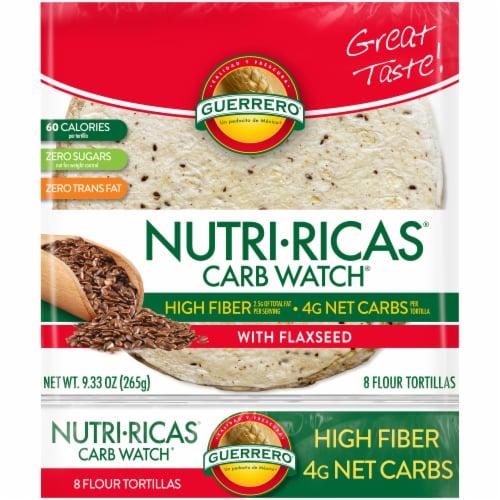 Guerrero Nutri-Ricas Carb Watch Flour Tortillas Perspective: front