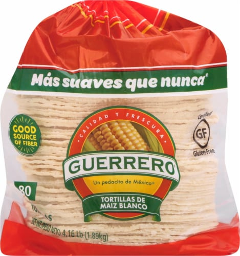 Guerrero White Corn Tortillas 80 Count 66 7 Oz City Market