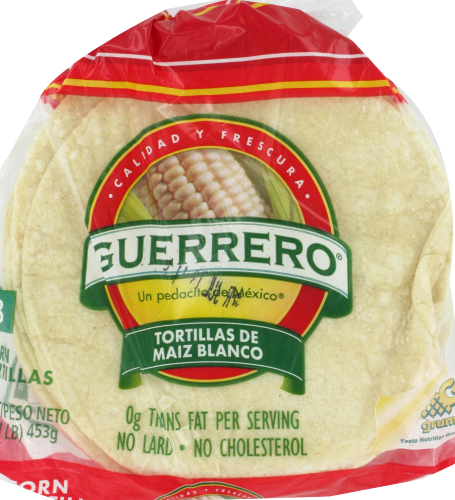 Smith S Food And Drug Guerrero White Corn Tortillas 18 Count 16 Oz
